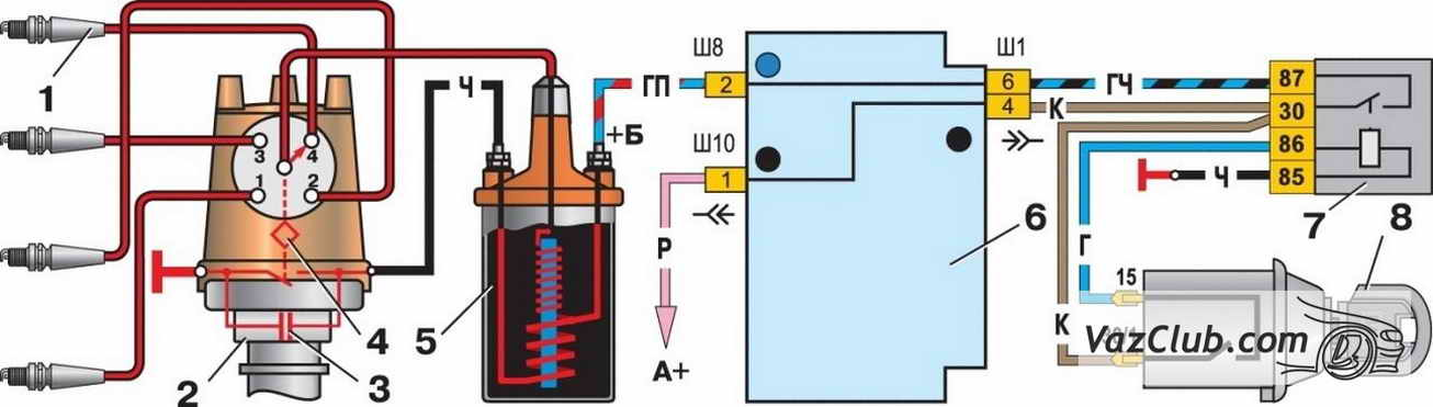 Схема зажигания матиза